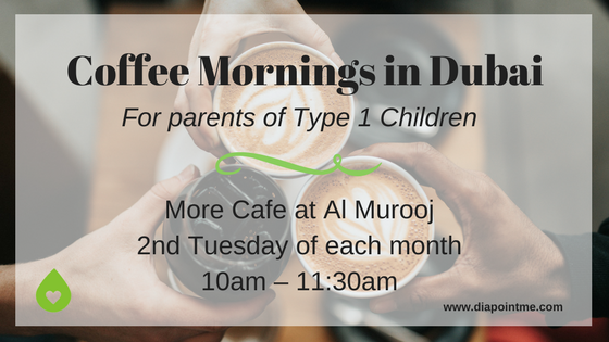 Coffee Mornings in Dubai For Parents of Type 1 Diabetic Children