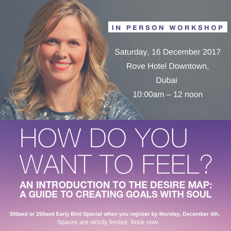 Desire Map Introductory Workshop in Dubai – 16 December 2017