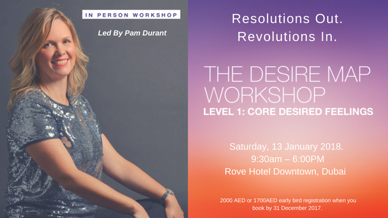 Desire Map Workshop Dubai – Level 1, January 2018