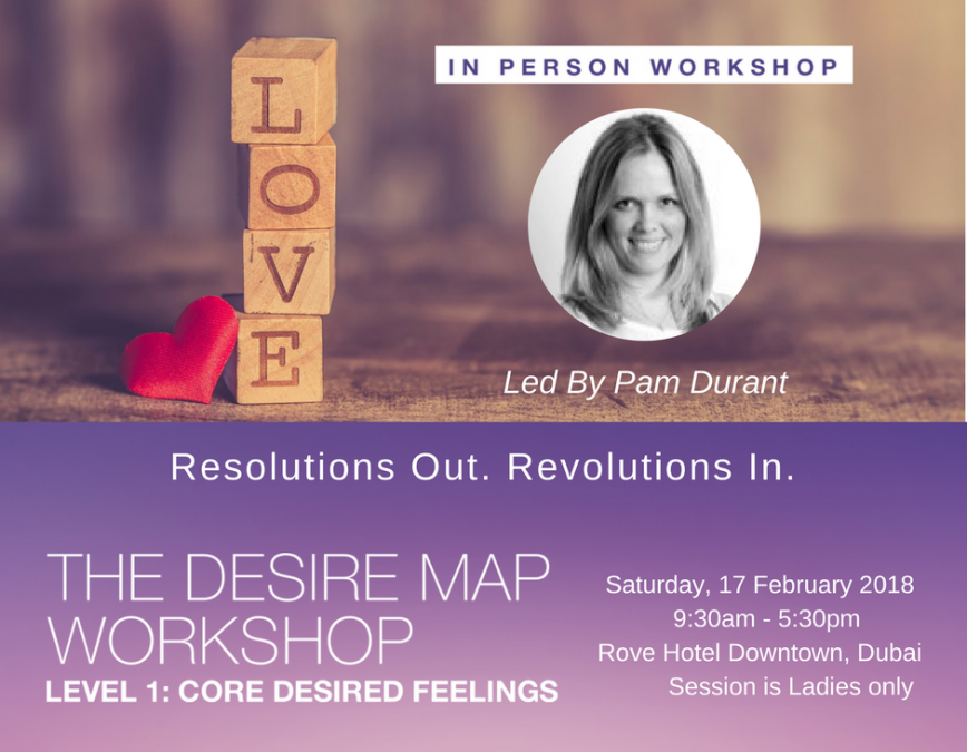 Desire Map Workshop Dubai – Level 1, February 2018