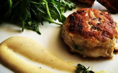 Herbed fish cakes with cumin-thyme aioli