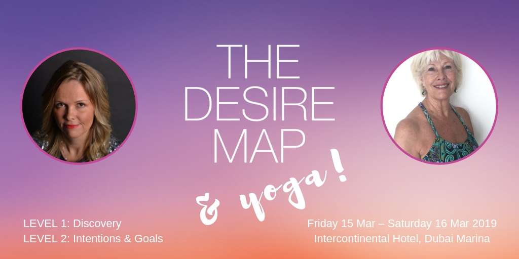 A Desire Map & Yoga Weekend Workshop, Levels 1 & 2 – Dubai, Mar 2019