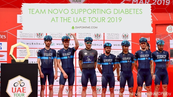 Team Novo Supporting Diabetes At The UAE Tour 2019