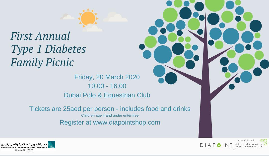 Type 1 Diabetes Picnic for Families – Dubai, March 20, 2020