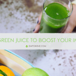 simple green juice or smoothie