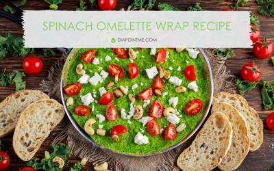 Spinach Omelette Wrap Recipe